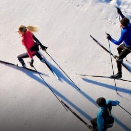 Langlauf Ski mieten in Arosa Isla Maran Langlaufloipe Arosa